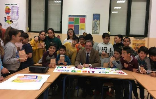 Charla sobre Libros y lectura en el CEIP Campo del Sur de Cádiz