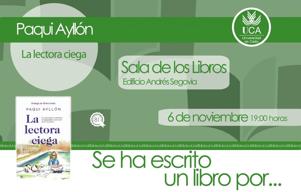 Se ha escrito un libro por… Paqui Ayllón