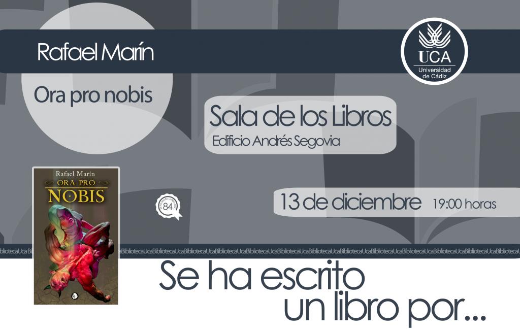 Se ha escrito un libro por… Rafael Marín