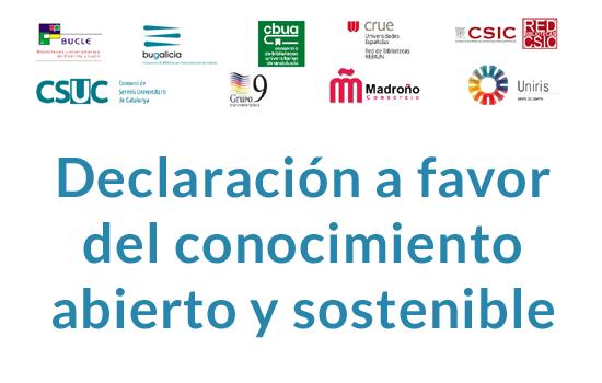 IMG Declaración de consorcios e instituciones académicas españolas