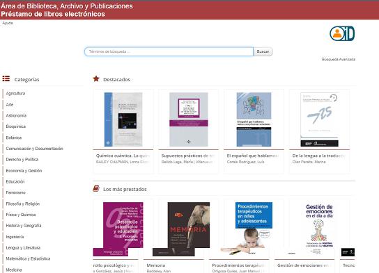Préstamo de libros electrónicos en plataforma Xebook