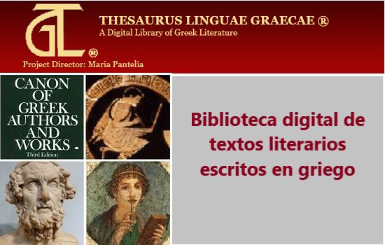 Thesaurus Linguae Graecae: nueva suscripción