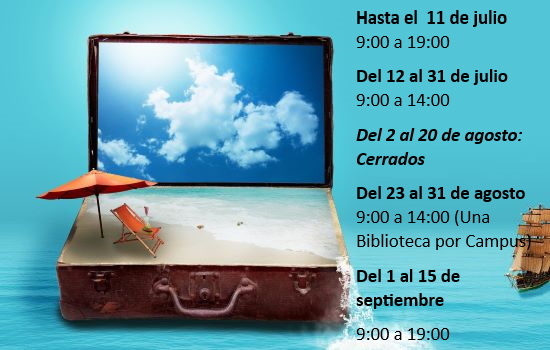 IMG Horarios de Verano. Biblioteca UCA